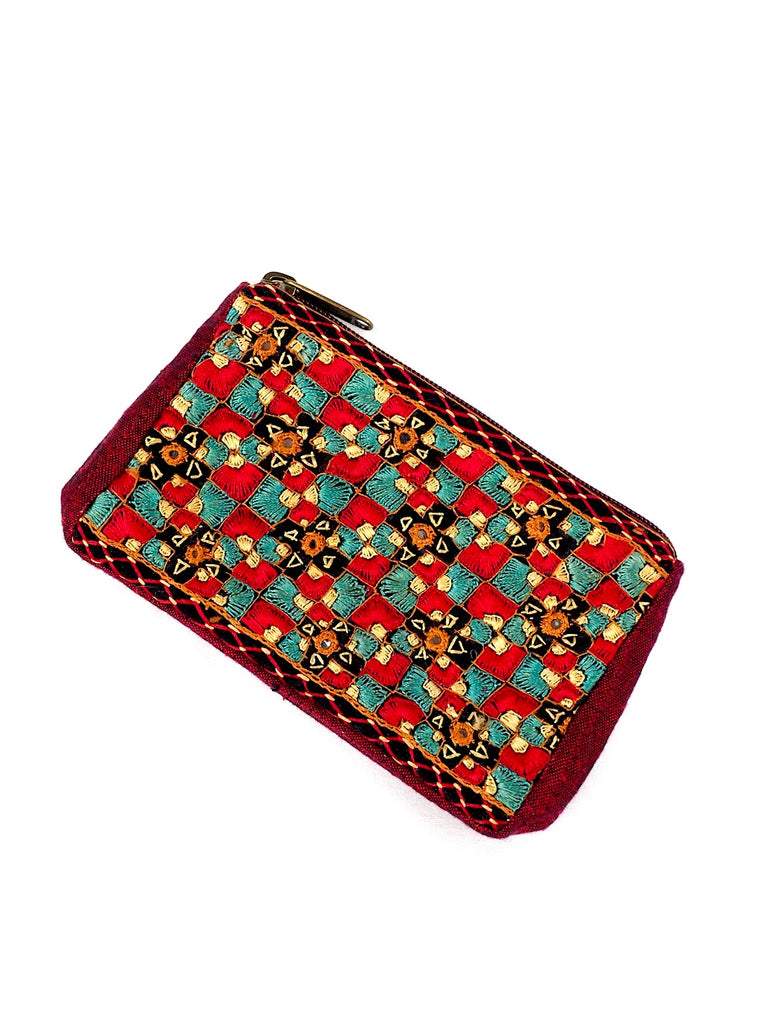 Embroidered Coin Purse 02