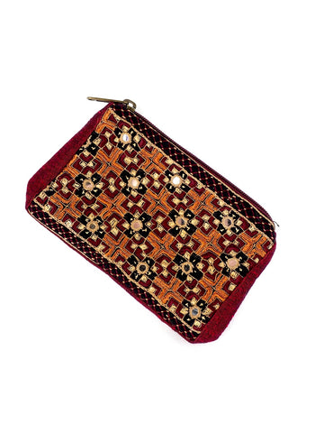 Embroidered Coin Purse 06