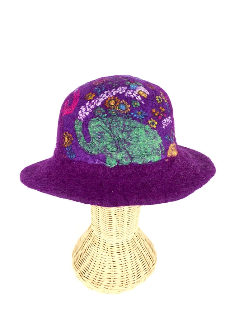 Felt Hat Purple