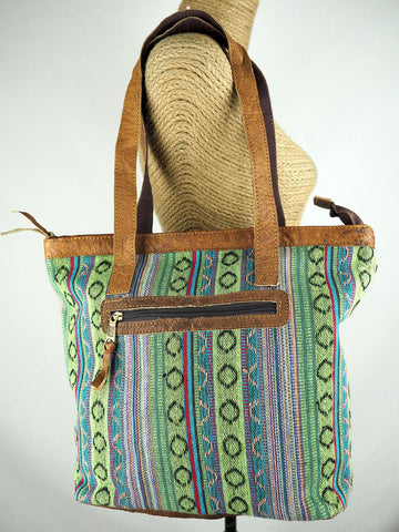 Gheri Cotton & Buffalo Leather Shoulder Bag 03