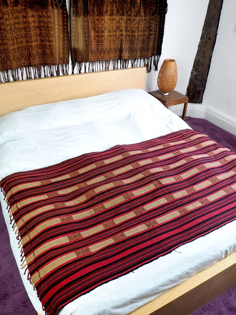 Burmese Woven Throw 003
