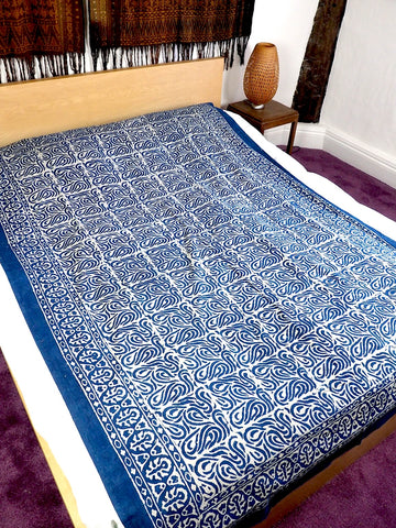 Blockprint Bedcover/Tablecloth 002