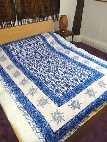 Blockprint Bedcover/Tablecloth 004