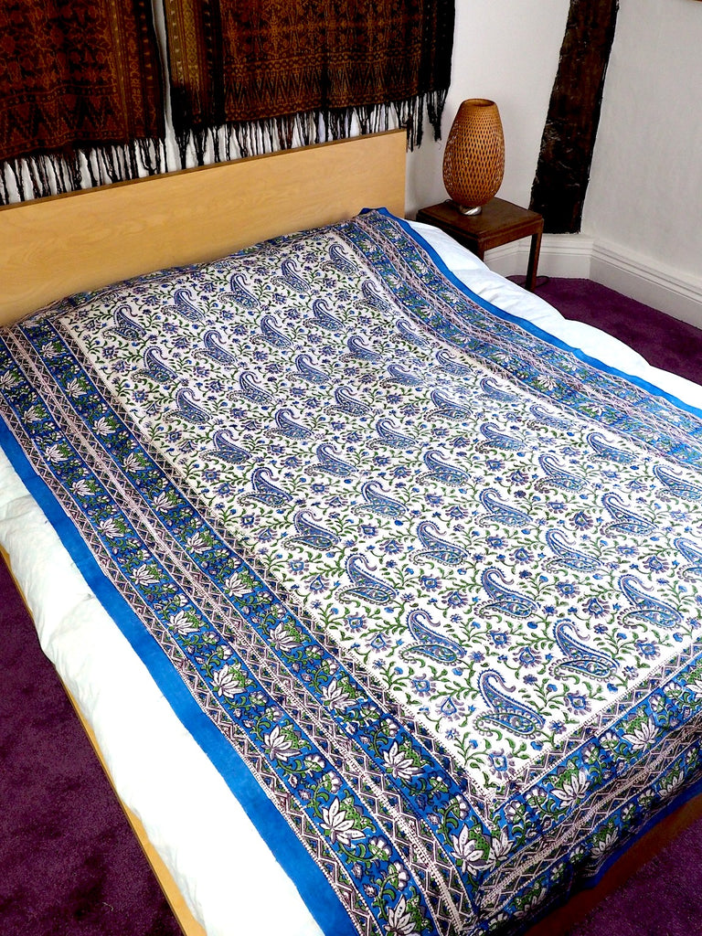 Blockprint Bedcover/Tablecloth 005
