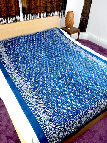 Blockprint Bedcover/Tablecloth 006