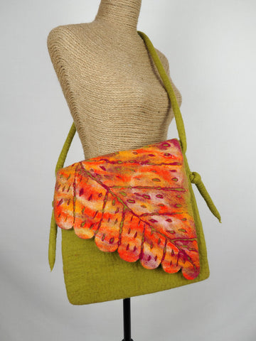 Leaf Shoulder Bag Citrus
