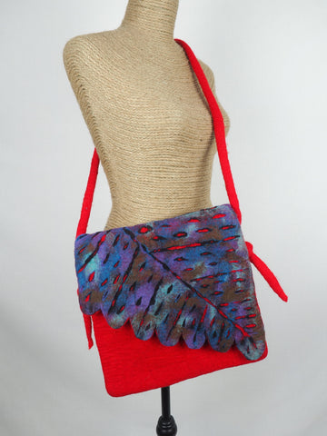 Leaf Shoulder Bag Peacock