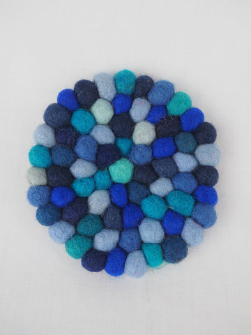 Pebble Coaster Blue