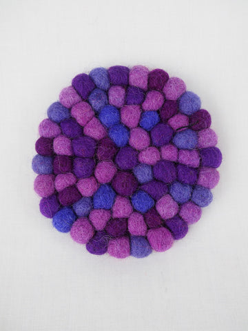 Pebble Coaster Purple