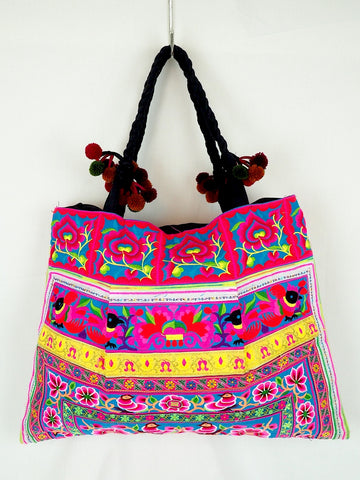 Embroidered Roomy Shopper 01