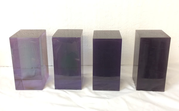 Clear Cast Coloured Blocks
