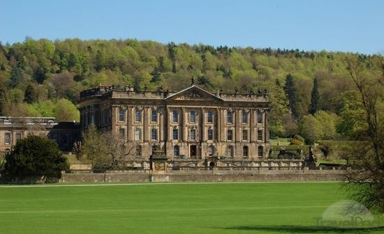 Chatsworth House From An Old Drawing