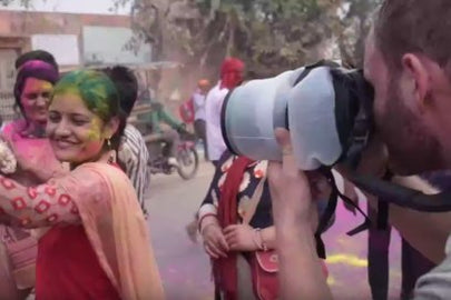 Outex at India's Holi Festival 2018