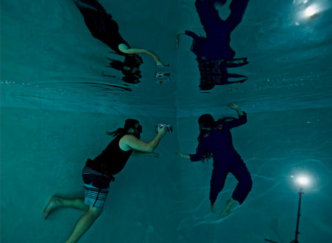 Brett Stanley Underwater photographer shooting with Outex waterproof cover