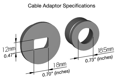 Outex cable adaptor specification dimensions