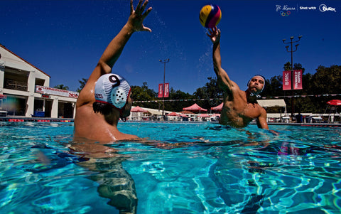 USA Men's Water Polo photoshoot with Outex waterproof camera housing 2