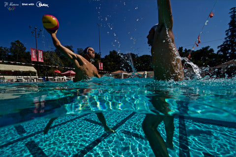 USA Men's Water Polo photoshoot with Outex waterproof camera housing 3