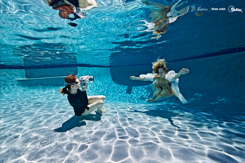 Professional Underwater Photographer Mallory Morrison using Outex waterproof system 1