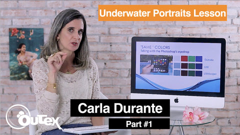 Underwater portrait lesson by Carla Durante for Outex