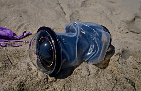 Outex waterproof system with dome and nd filter in use at the beach