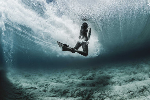 Underwater surfer photo by professional Matt Catalano using Outex housing system