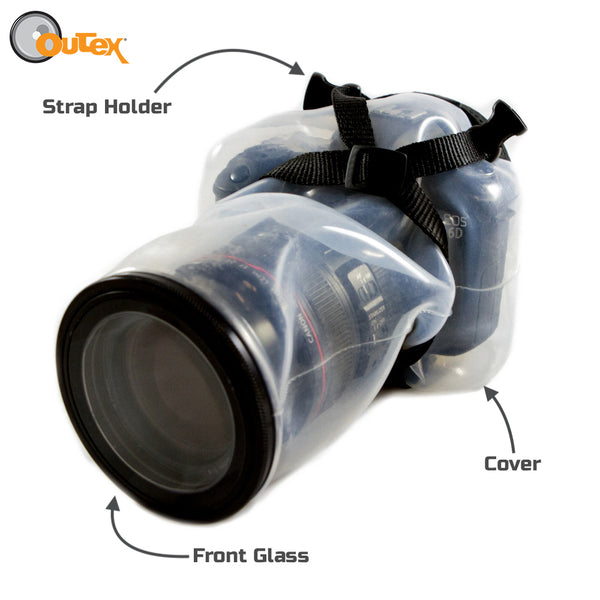 Outex cover with marking on where each glass goes