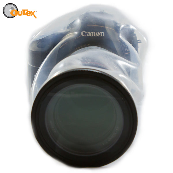Camera pointed towards you that is protected by an outex case