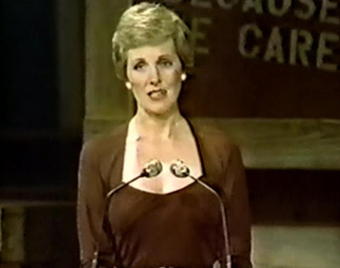 "Julie Andrews - one of the celebrities featured in ""Because We Care,"" a 2-hour CBS special that aired Feb. 5, 1980 raising relief efforts for aiding famine victims in Cambodia. This rare TV special is available on DVD from RewatchClassicTV.com"