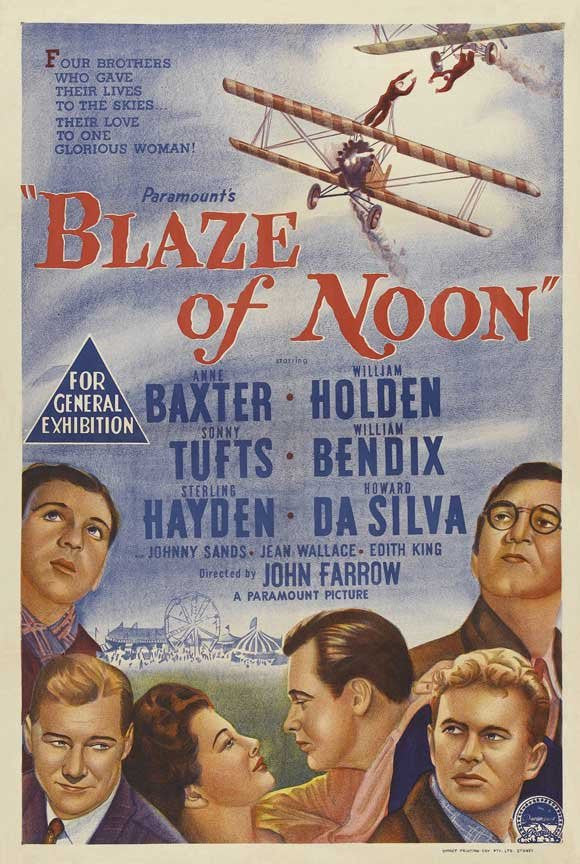 William Holden, Anne Baxter, William Bendix, Sterling Hayden, Howard Da Silva, and Sonny Tufts in Blaze of Noon (1947) Film available from RewatchClassicTV.com