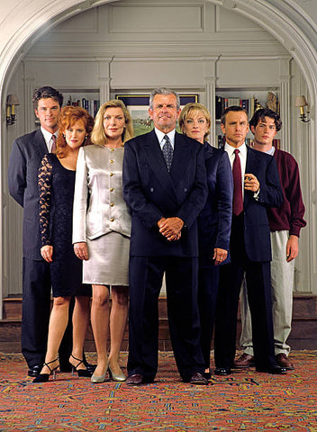 The Monroes, a 1995 short-lived ABC serial drama starring William Devane and Susan Sullivan followed the exploits of a rich and powerful Maryland family and the Washington political scene. This series is available for purchase from RewatchClassicTV.com.