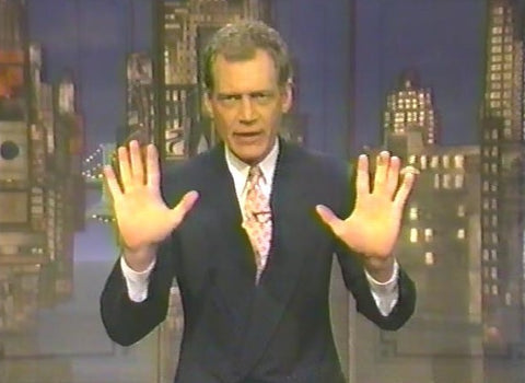 David Letterman hosting his CBS primetime special