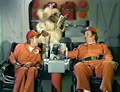 Bumbling NASA food concessionaires Barney (Chuck McCann) and Junior (Bob Denver) become unexpected astronauts on the classic 70's Saturday morning CBS series.  All 15 episodes are available on DVD from RewatchClassicTV.com.