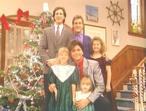 "Full House – ""Our First Christmas Show"" is one of 15 holiday themed episodes from a one-of-a-kind 3-DVD collection featuring 1980s sitcoms available from www.RewatchClassicTV.com"