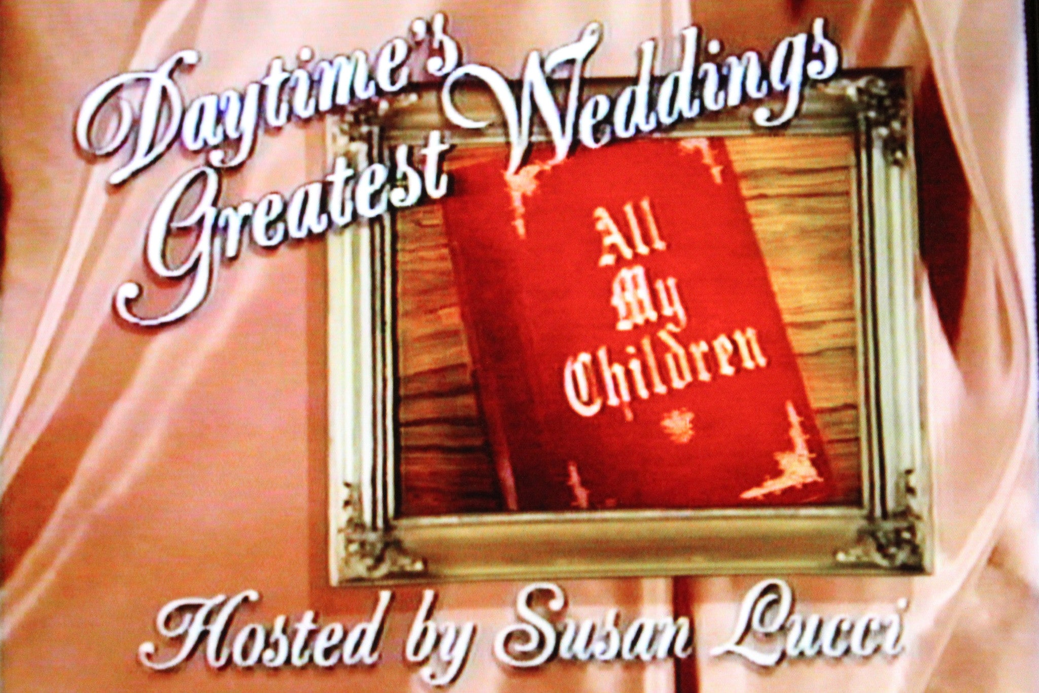 DAYTIME'S GREATEST WEDDINGS: ALL MY CHILDREN (ABC) - Rewatch Classic TV - 1