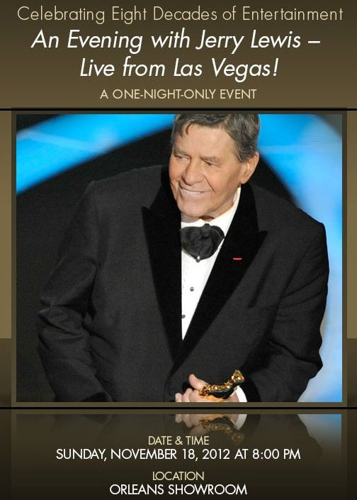 AN EVENING WITH JERRY LEWIS - LIVE FROM LAS VEGAS! (PBS 3/2/13)