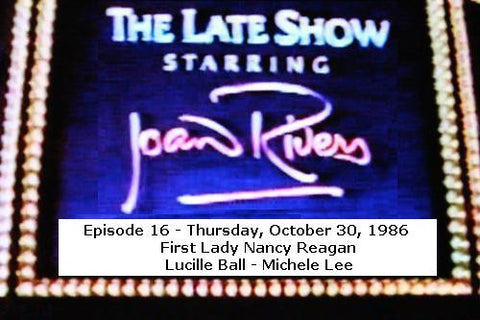 LATE SHOW STARRING JOAN RIVERS - EPISODE 16 (FOX 11/11/86) - Rewatch Classic TV - 1