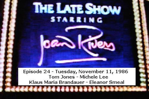 LATE SHOW STARRING JOAN RIVERS - EPISODE 24 (FOX 11/11/86) - Rewatch Classic TV - 1