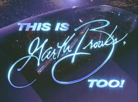 This Is Garth Brooks, Too! – NBC special aired 5/6/94. Filmed at the Dallas Stadiun in June of 1993, the concert featured 13 songs. The DVD is available from RewatchClassicTV.com.