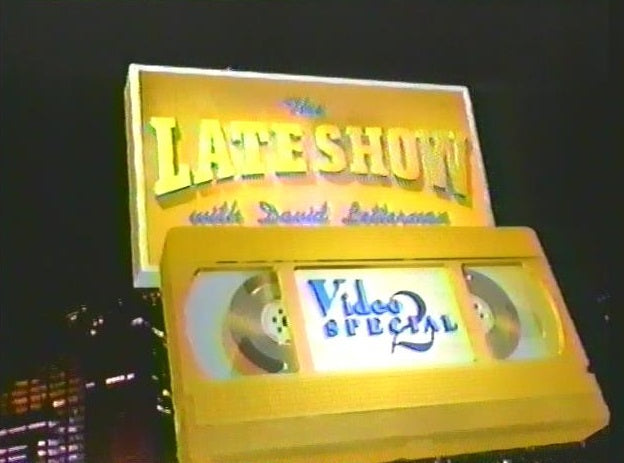 The Late Show with David Letterman Video Special 2 was a CBS primetime special that aired February 19, 1996. This special is available on DVD from RewatchClassicTV.com.