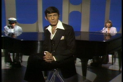 Actor Leonard Nimoy in episode 5 of the TV variety series