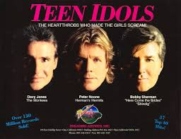 Bobby Sherman, Davy Jones, Peter Noone - the teen idols in concert. DVD available from www.RewatchClassic.TV.com