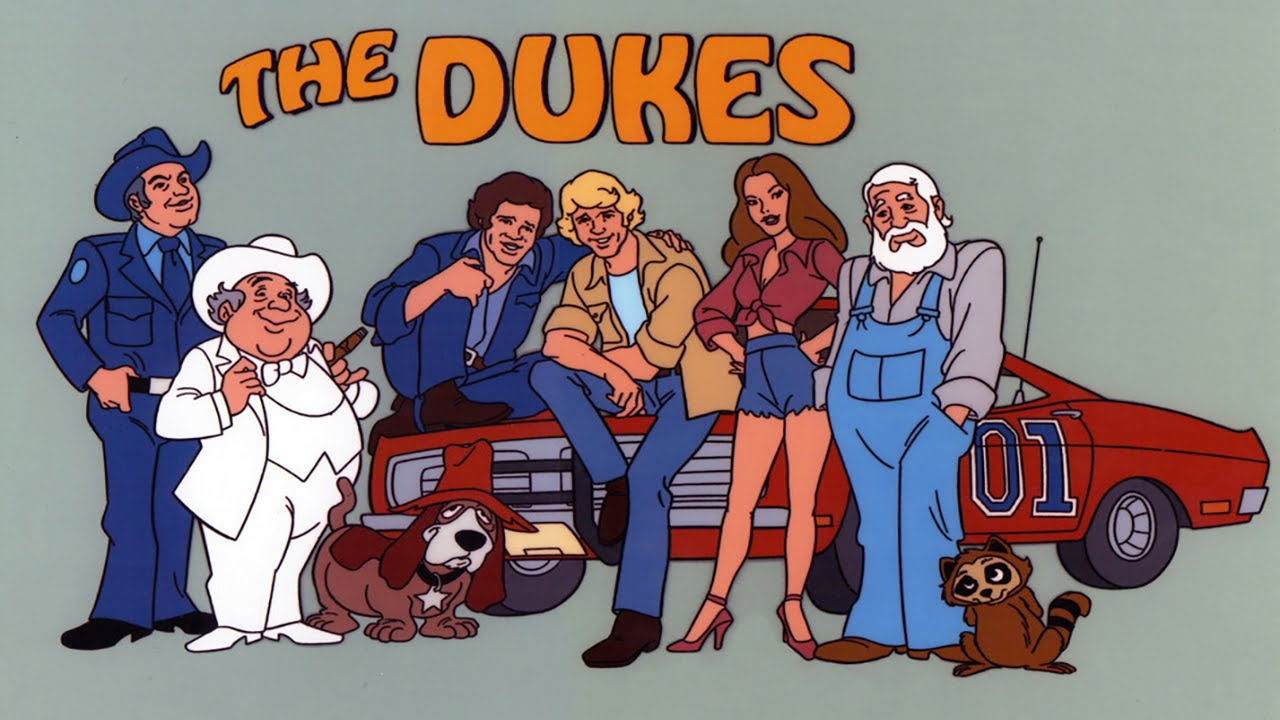 """The Dukes"" is an animated series based on the hit 70s television series ""The Dukes of Hazzard"". Duke cousins Coy, Vance and Daisy get into all kinds of trouble and escape from Sheriff Boss Hogg and Roscoe P. Coltrane in the trustworthy General Lee. The complete 20 episode series is available from RewatchClassicTV.com."