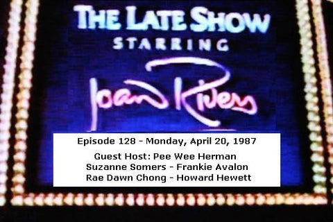 LATE SHOW STARRING JOAN RIVERS - EPISODE 128 (FOX 4/20/87) - Rewatch Classic TV - 1