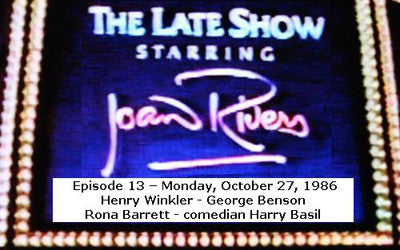 LATE SHOW STARRING JOAN RIVERS - EPISODE 13 (FOX 10/27/86) - Rewatch Classic TV