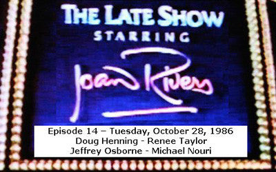 LATE SHOW STARRING JOAN RIVERS - EPISODE 14 (FOX 10/28/86) - Rewatch Classic TV
