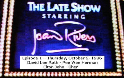 LATE SHOW STARRING JOAN RIVERS - EPISODE 1 (FOX 10/9/86) - Rewatch Classic TV - 1