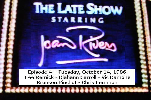 LATE SHOW STARRING JOAN RIVERS - EPISODE 4 (FOX 10/14/86) - Rewatch Classic TV