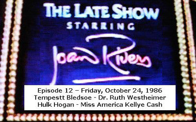 LATE SHOW STARRING JOAN RIVERS - EPISODE 12 (FOX 10/24/86) - Rewatch Classic TV
