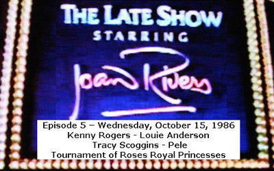 LATE SHOW STARRING JOAN RIVERS - EPISODE 5 (FOX 10/15/86) - Rewatch Classic TV