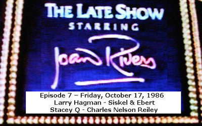 LATE SHOW STARRING JOAN RIVERS - EPISODE 7 (FOX 10/17/86) - Rewatch Classic TV